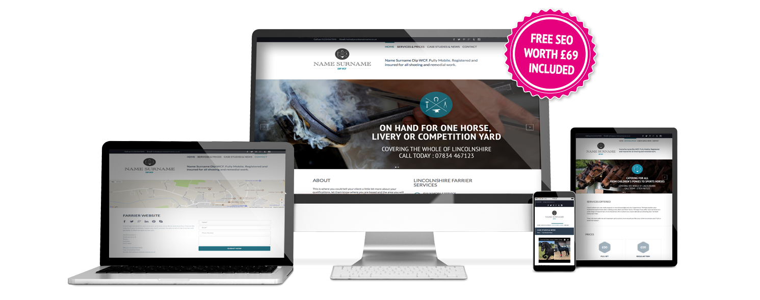 Farrier Website Template