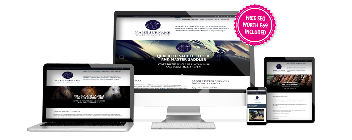 Saddle Fitter Website Template